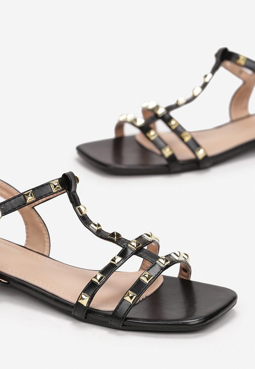 Czarne Sandały Phoessei