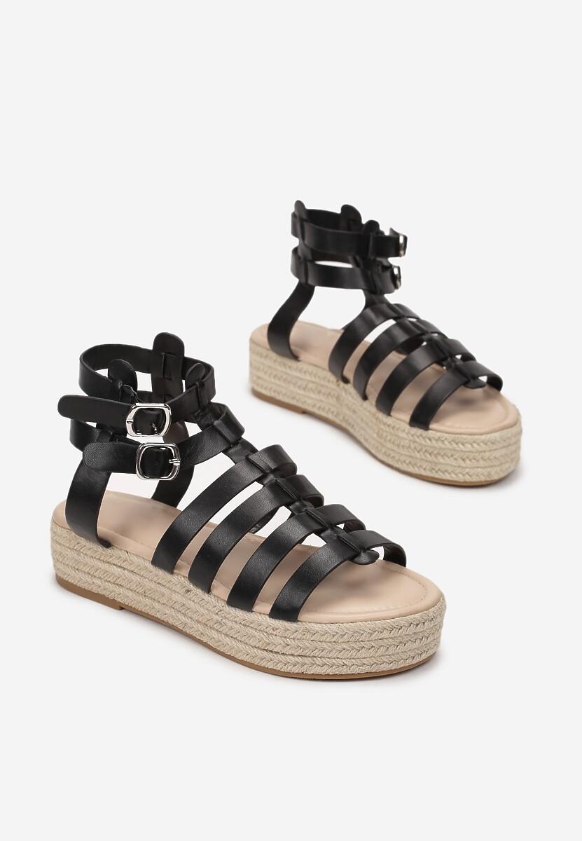 Czarne Sandały Iphiophai
