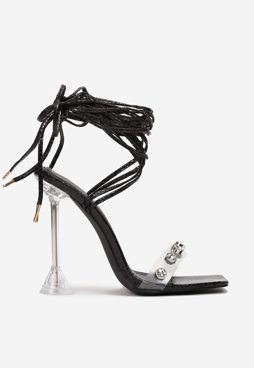 Czarne Sandały Pixedice