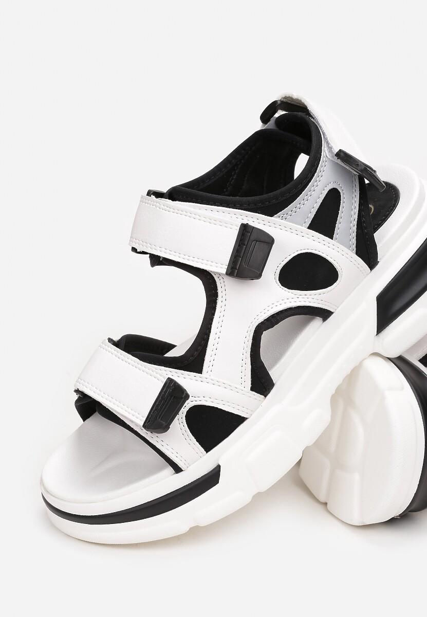 Biało-Czarne Sandały Zeleris