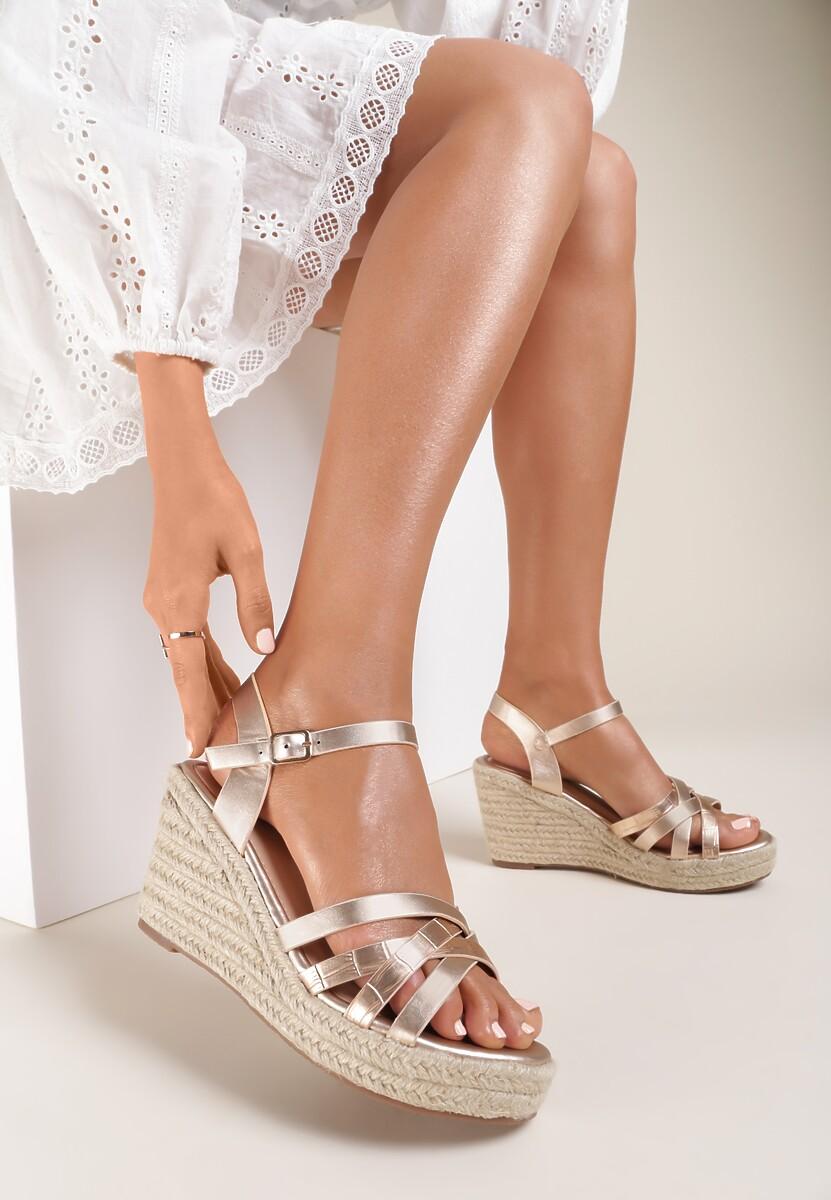 Szampańskie Sandały Acsixa