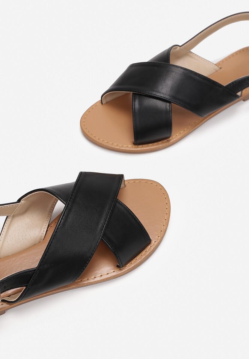Czarne Sandały Psalalphia