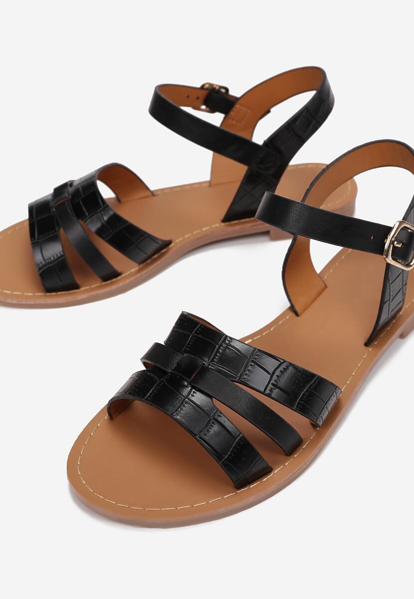 Czarne Sandały Sagixa