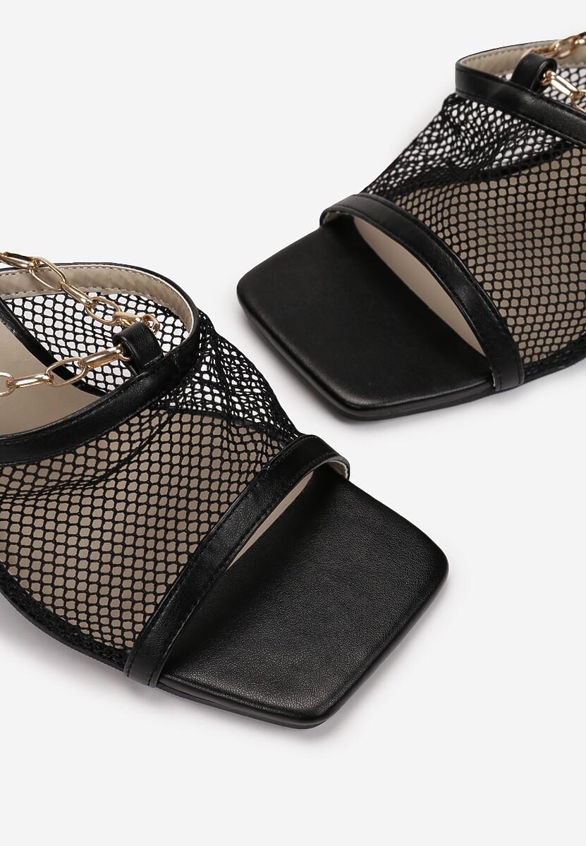 Czarne Sandały Olithopheu