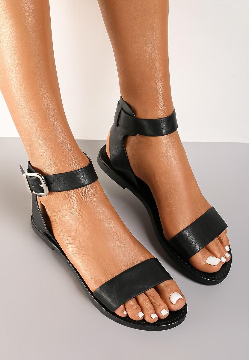 Czarne Sandały Aethymes