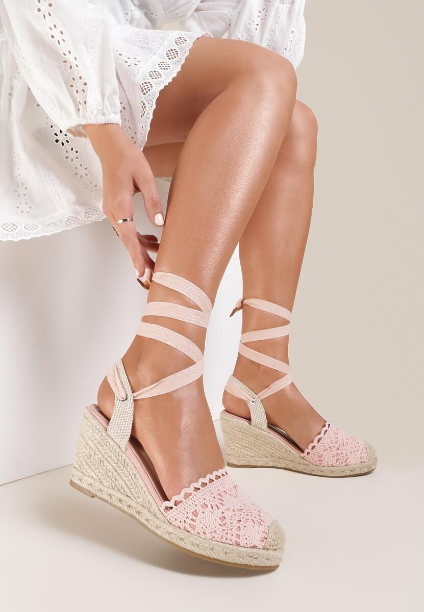 Różowe Sandały Messeris