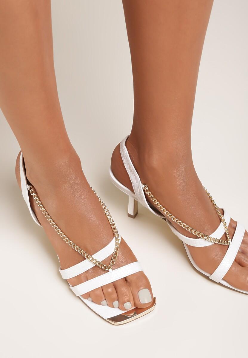 Białe Sandały Nyshithise