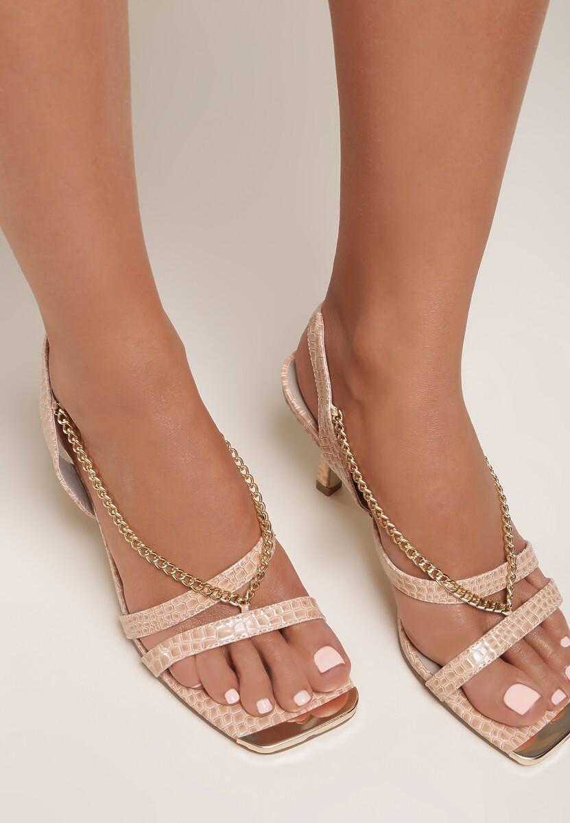 Beżowe Sandały Nyshithise