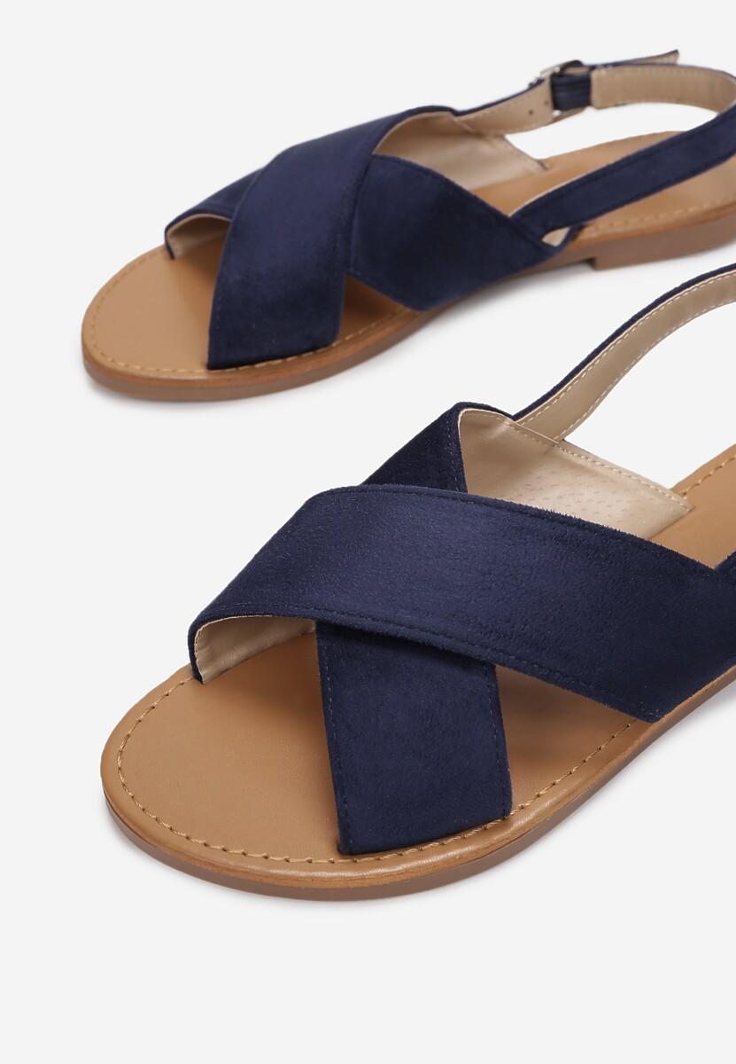 Granatowe Sandały Lope
