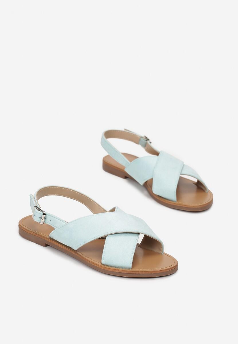 Miętowe Sandały Lope