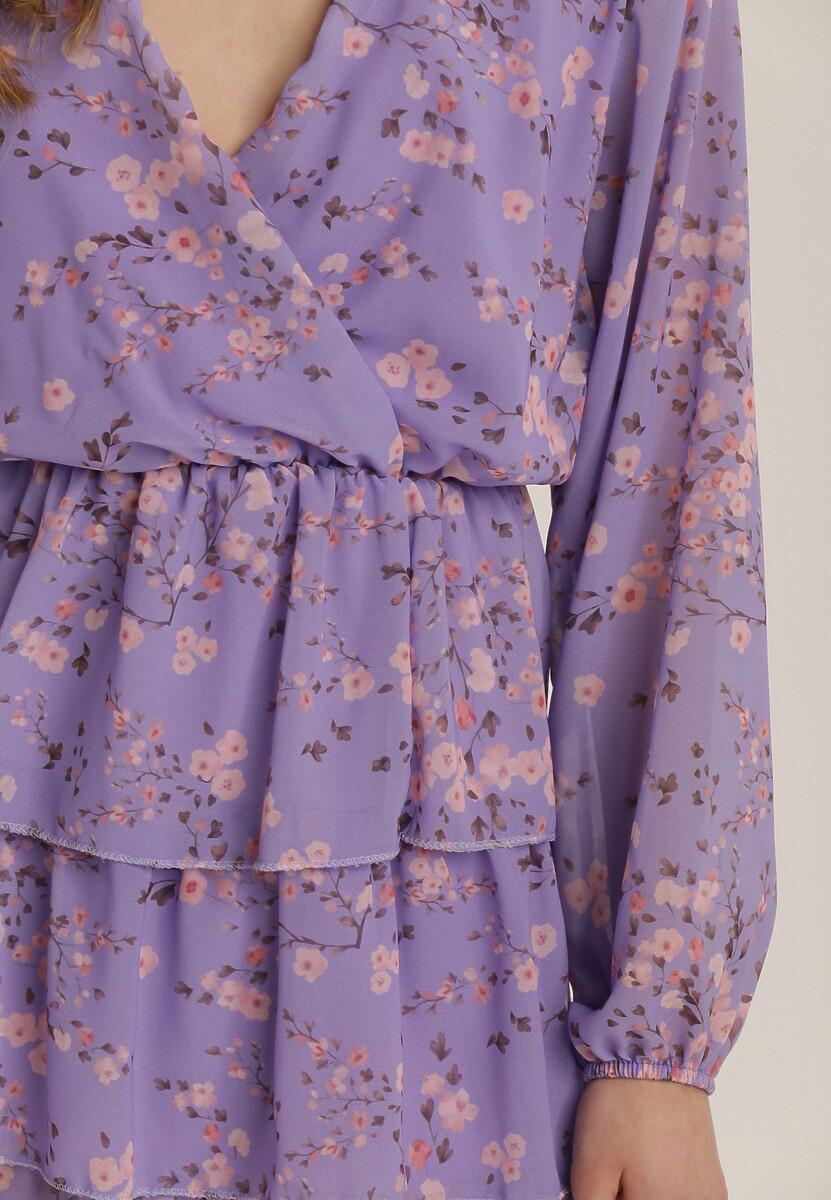 Liliowa Sukienka Kallitiax