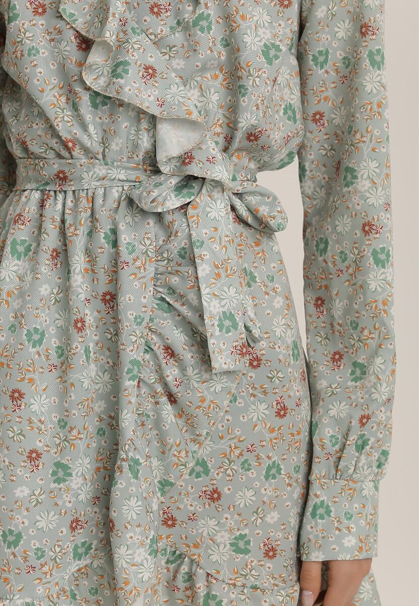 Miętowa Sukienka Salanise
