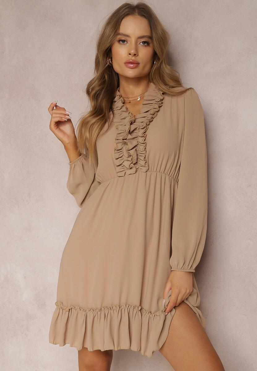 Ciemnobeżowa Sukienka Perisiphe