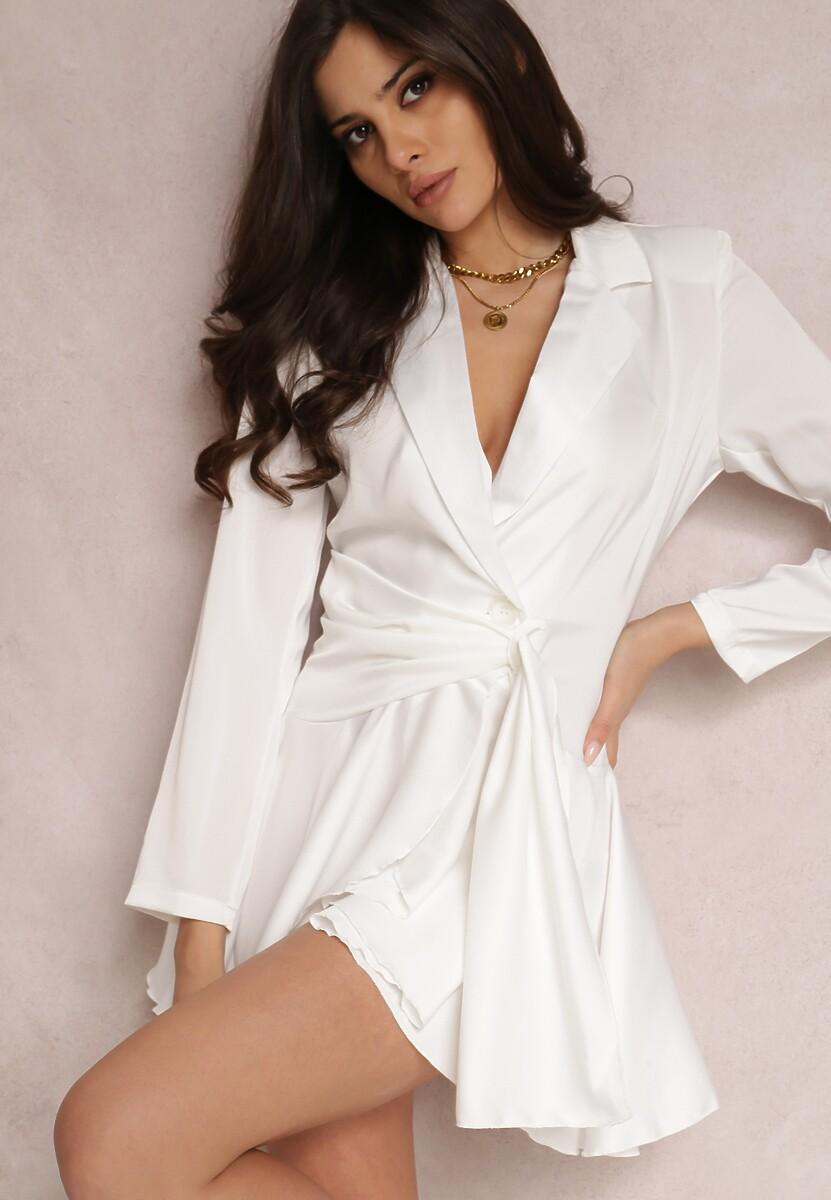 Biała Sukienka Aqialori