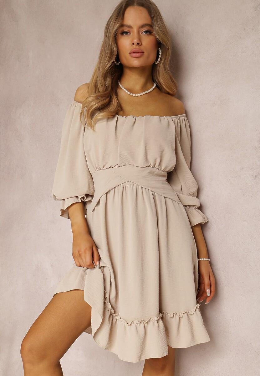 Beżowa Sukienka Danaliphis