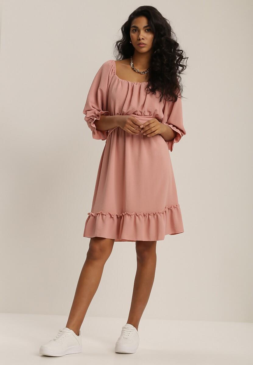 Różowa Sukienka Danaliphis