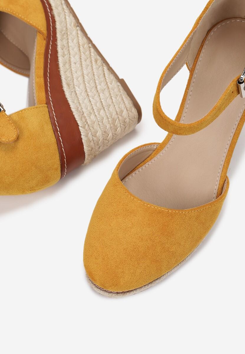 Żółte Sandały Drenania
