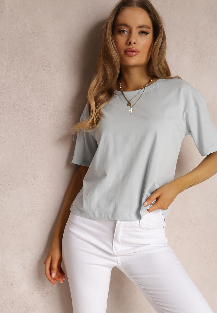 Jasnoniebieski T-shirt Messithoe