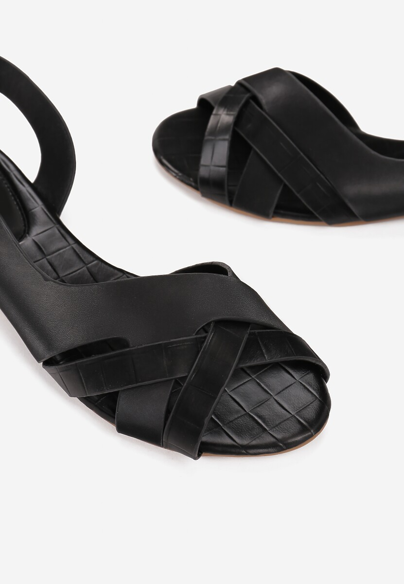Czarne Sandały Idahmei