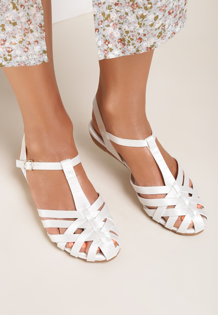 Białe Sandały Rhenenei