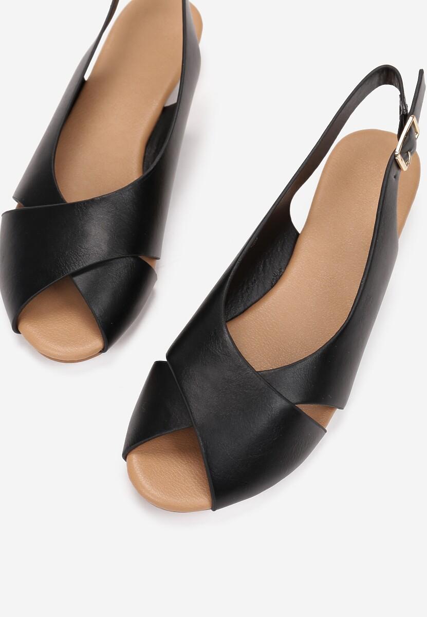 Czarne Sandały Metisise