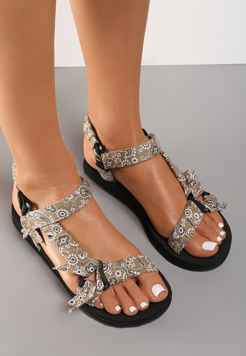 Khaki Sandały Aerinia