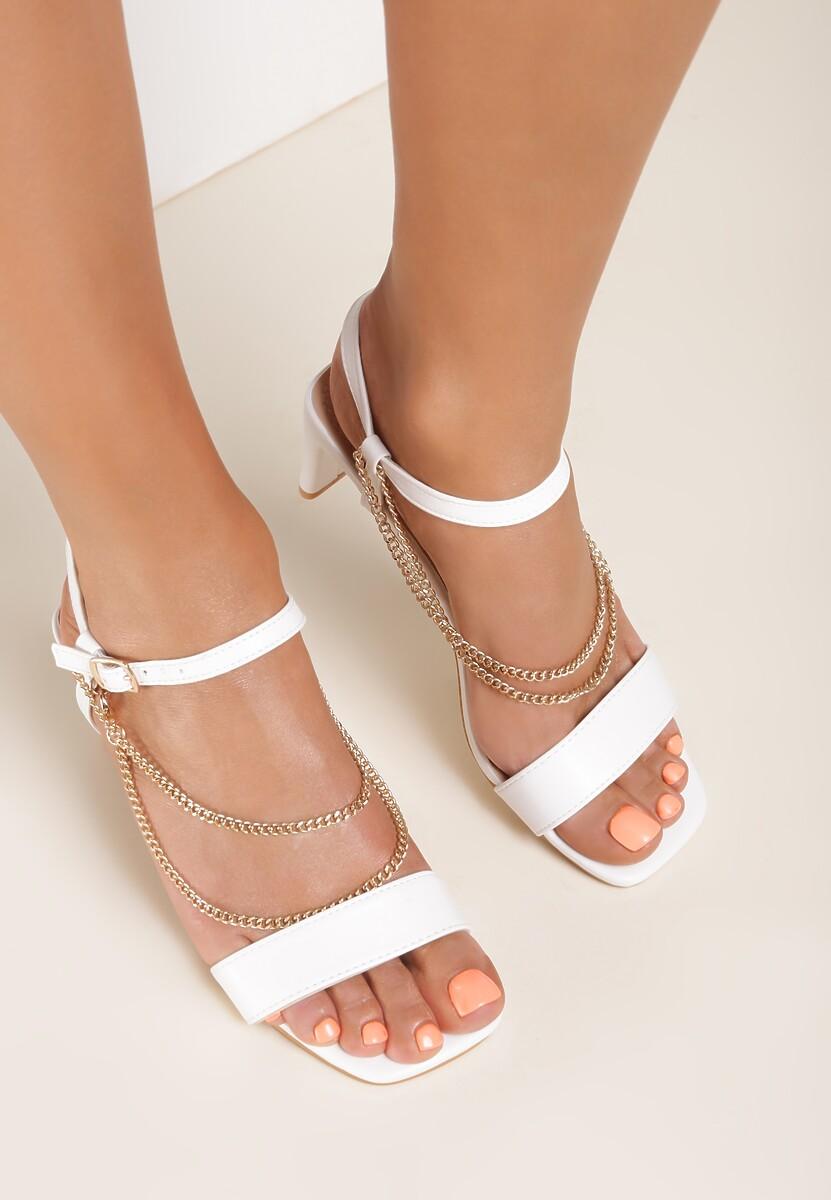 Białe Sandały Aegarith