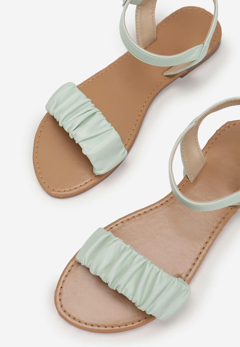 Miętowe Sandały Metilia