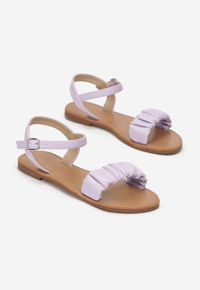 Liliowe Sandały Metilia