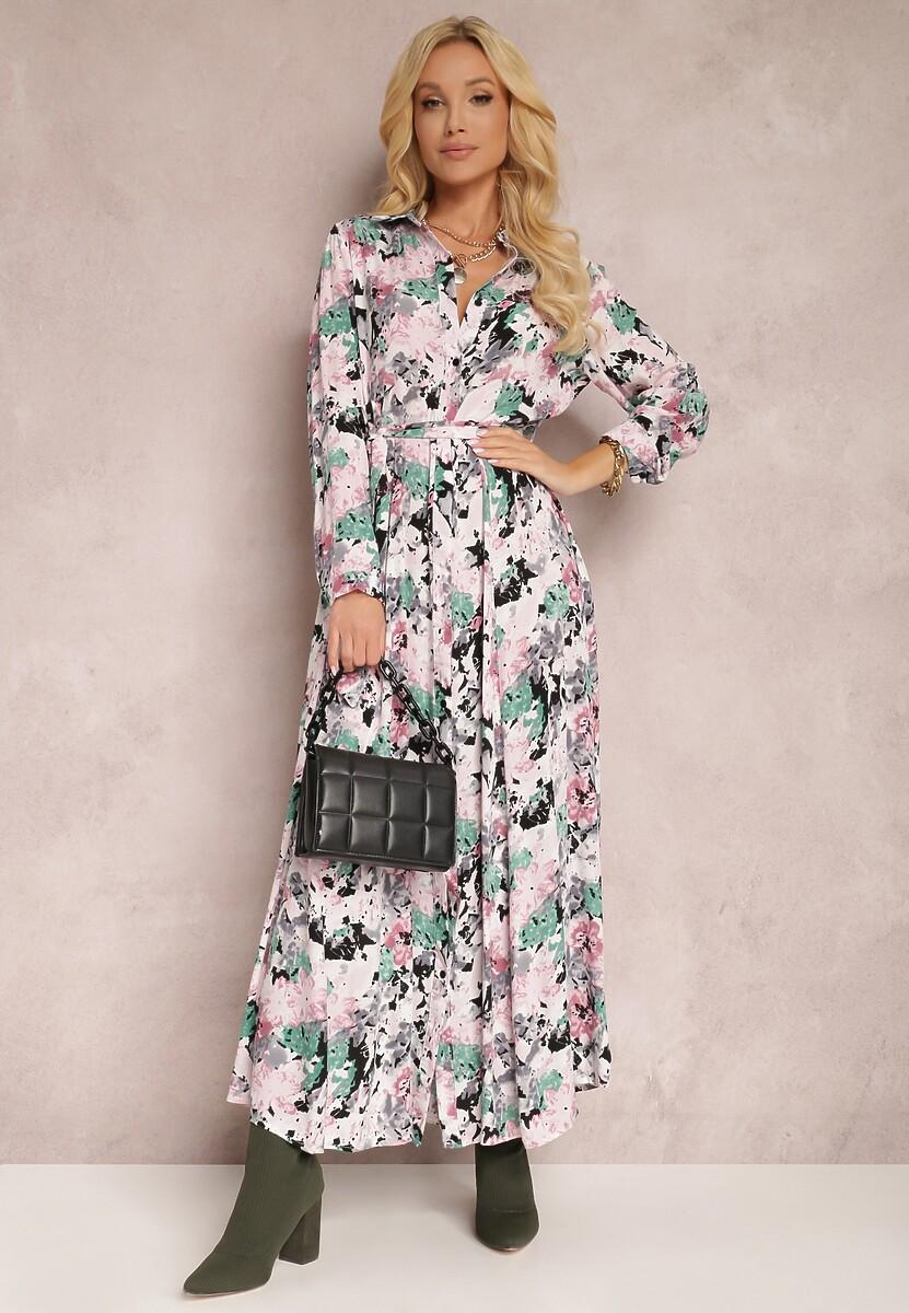 Jasnoróżowa Sukienka Thyxenis