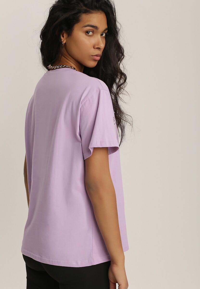 Liliowy T-shirt Mepheusa