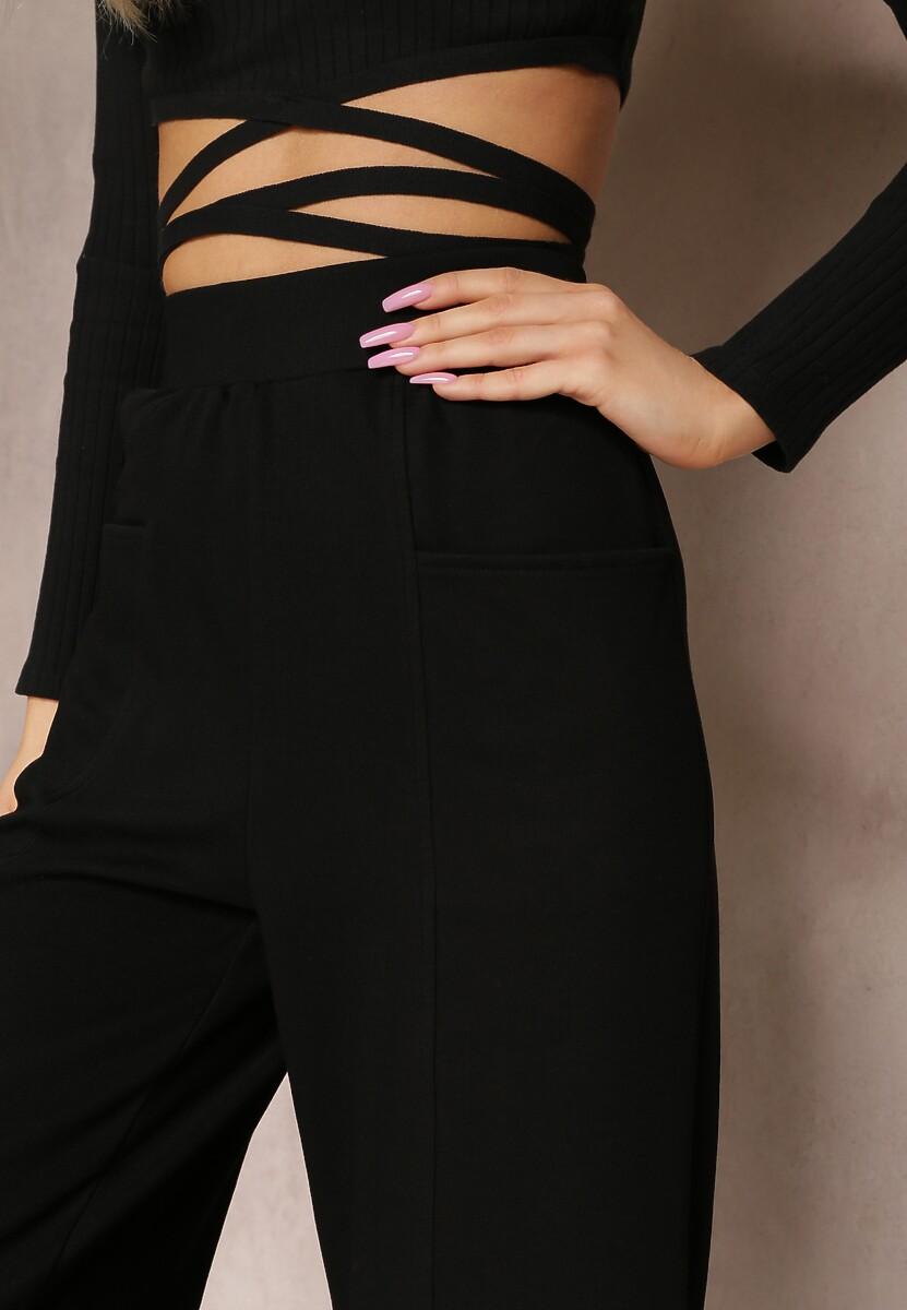 Czarne Spodnie Dresowe Evithosi
