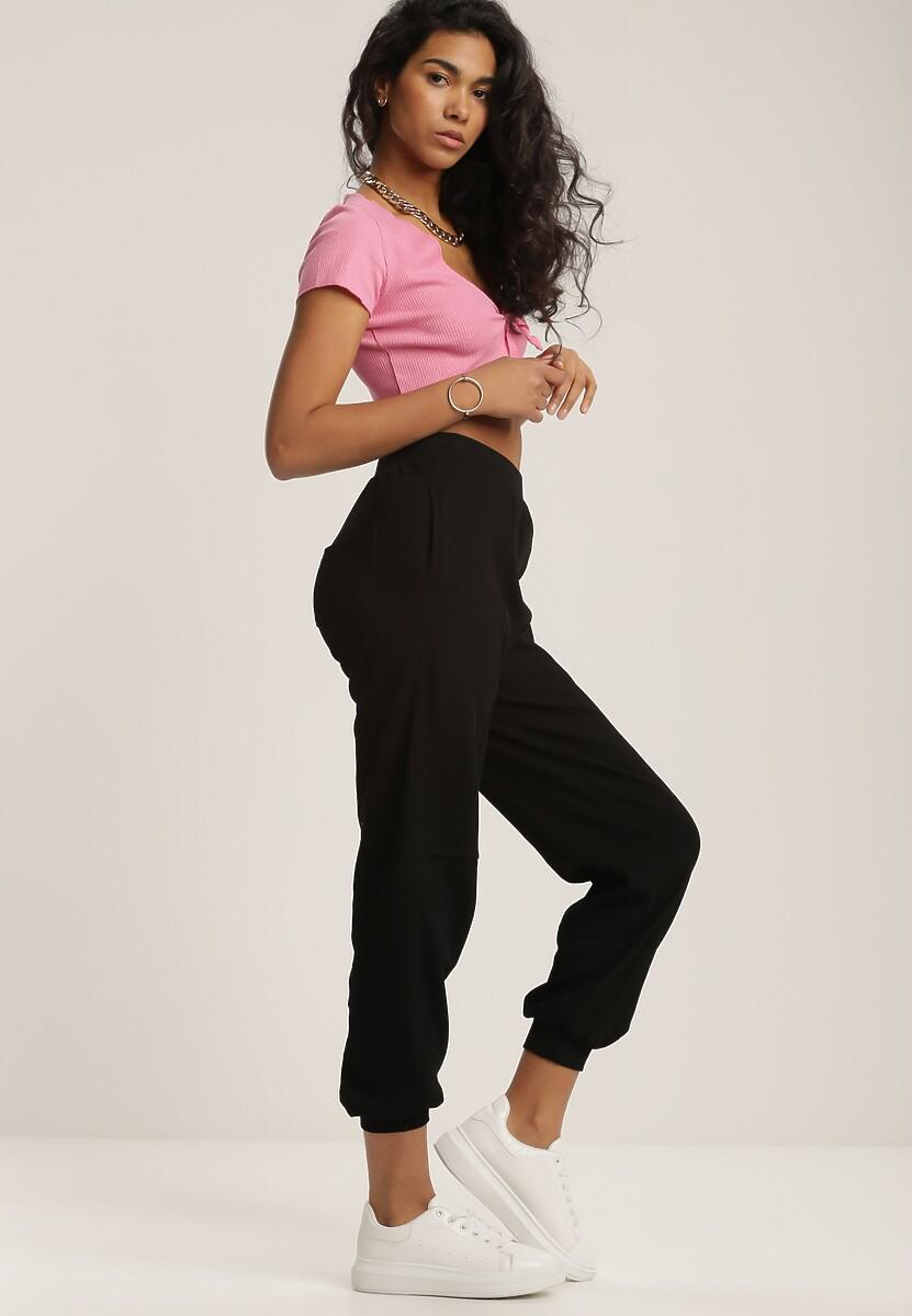 Czarne Spodnie Dresowe Kisseasi