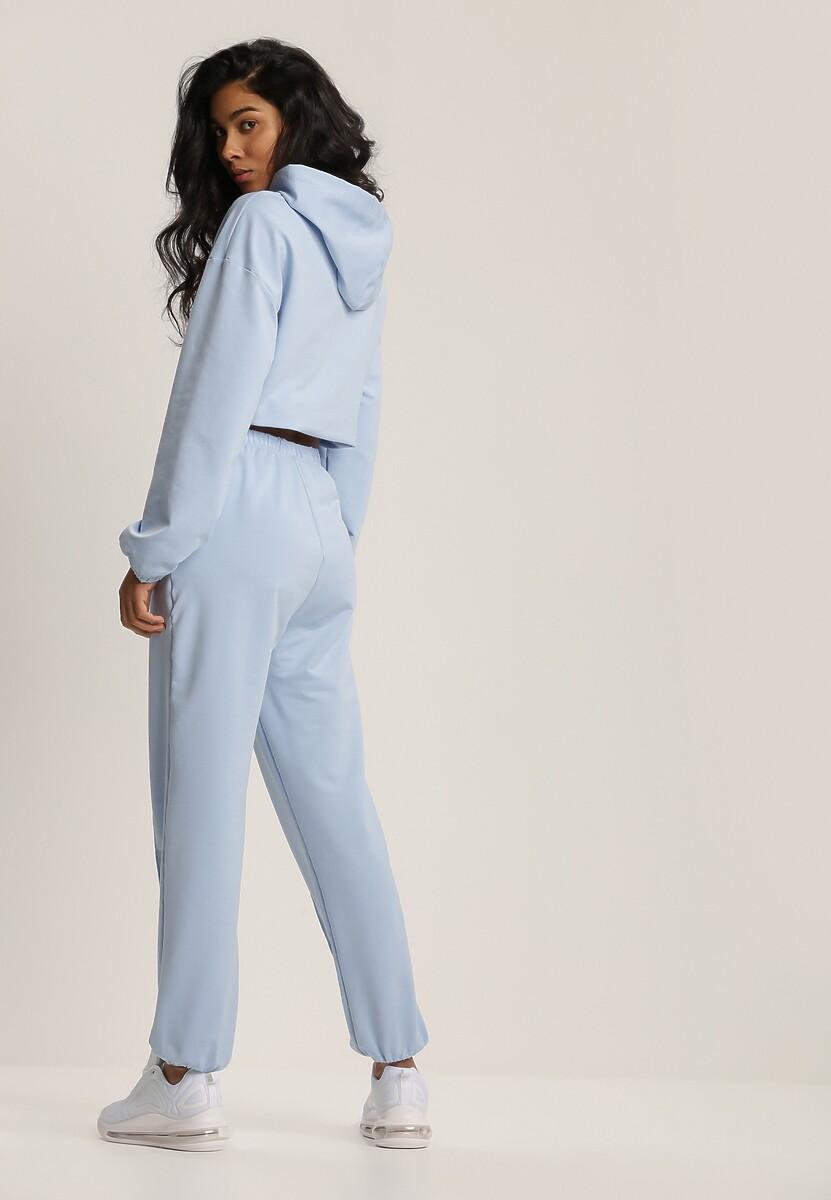 Niebieski Komplet Dresowy Dwuczęściowy Iphoche