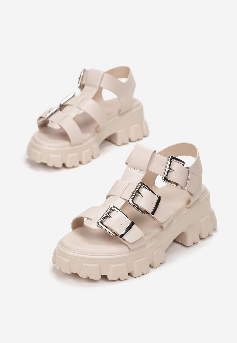Beżowe Sandały Iasertes