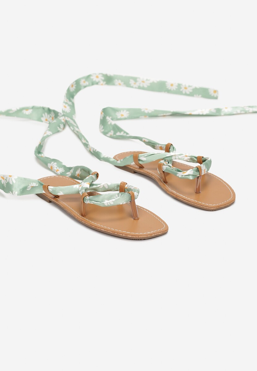 Miętowe Sandały Pethalise