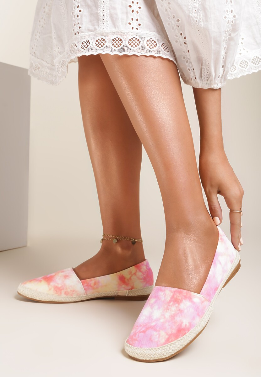 Różowo-Białe Espadryle Pethosia