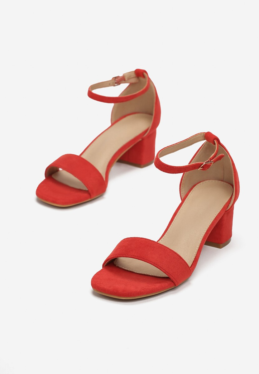 Czerwone Sandały Leucassa