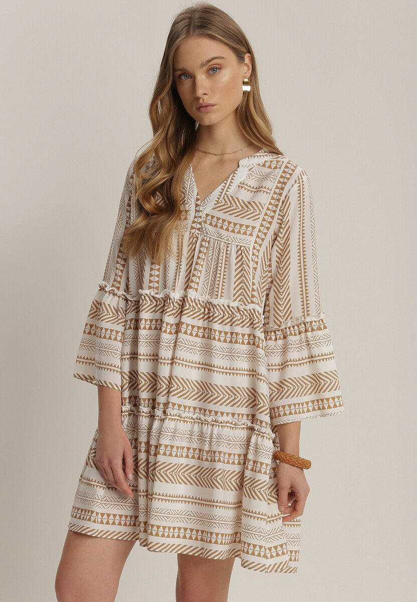 Beżowa Sukienka Kaliphelia