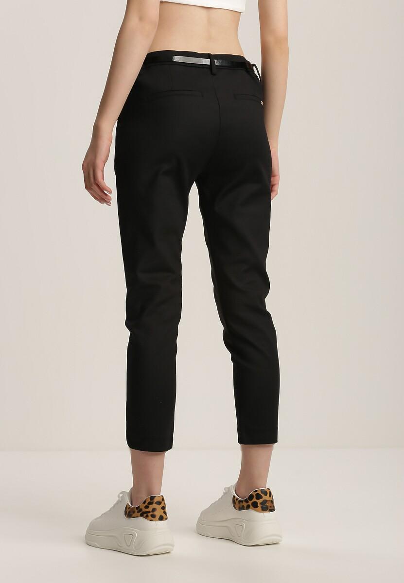 Czarne Spodnie Galixali