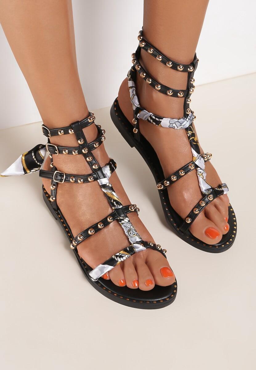 Czarne Sandały Lephaphaura