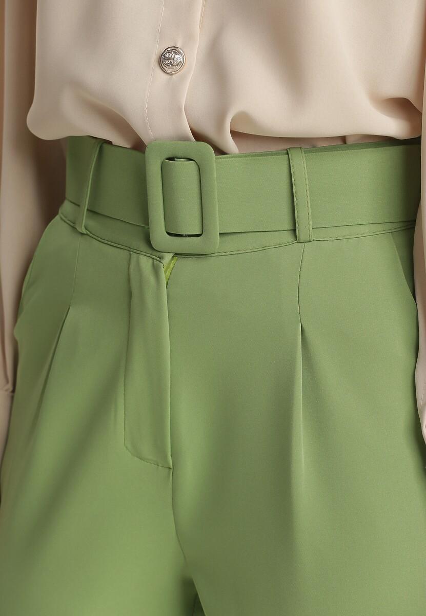Jasnozielone Spodnie Cygaretki Daphyxio