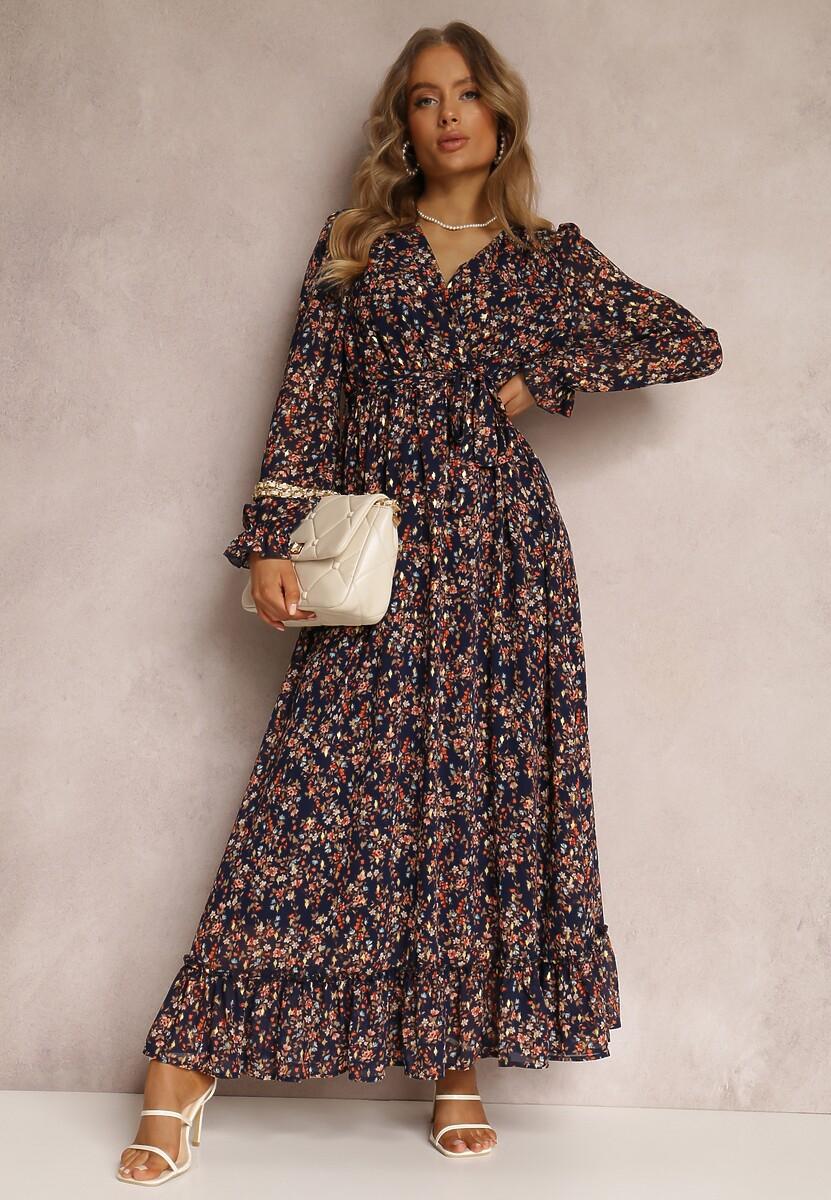 Granatowa Sukienka Menne