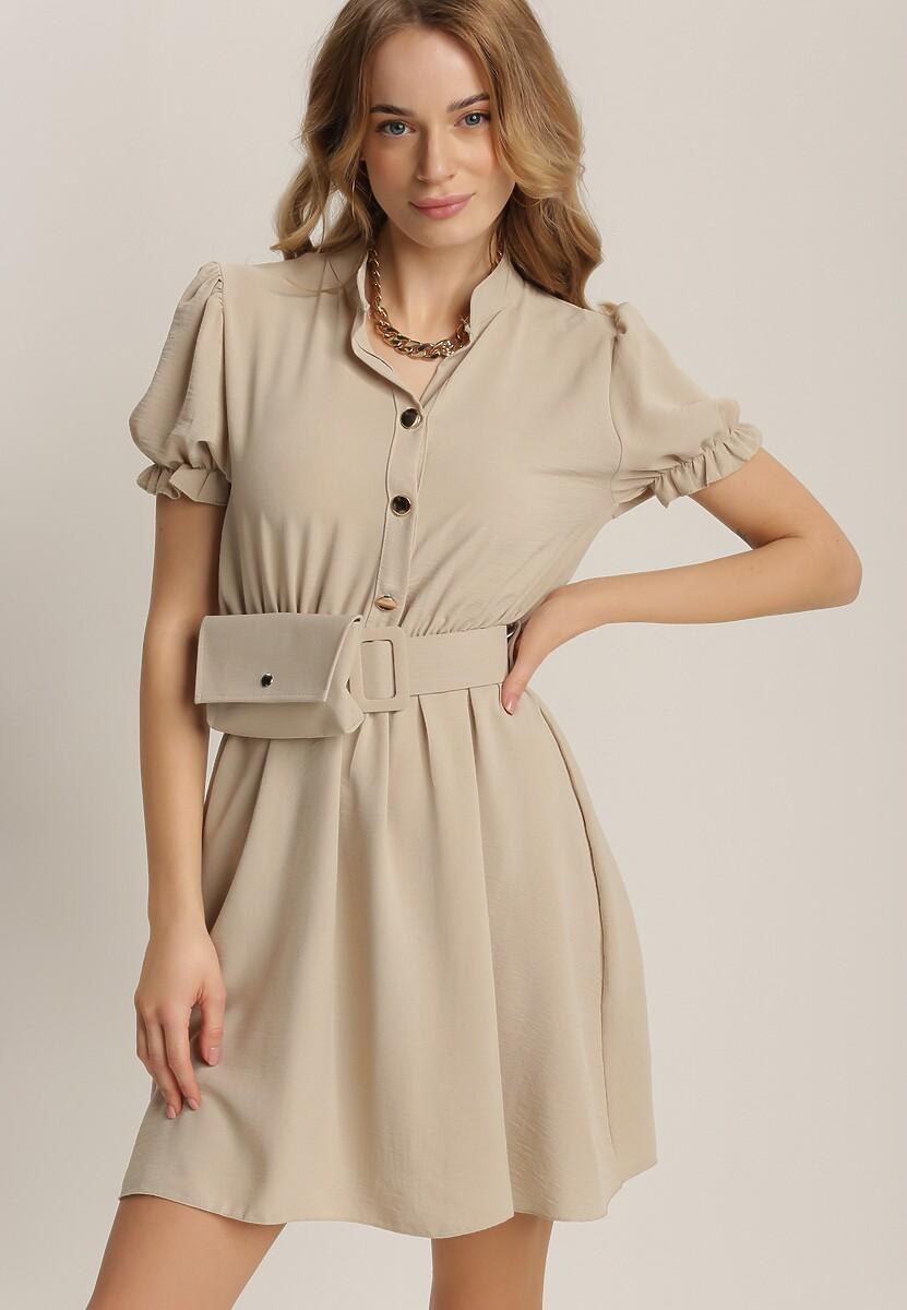 Beżowa Sukienka Thesperis