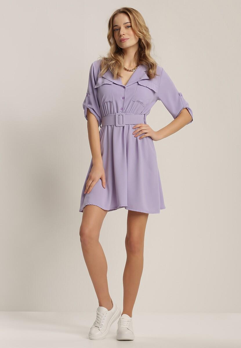 Liliowa Sukienka Theanose