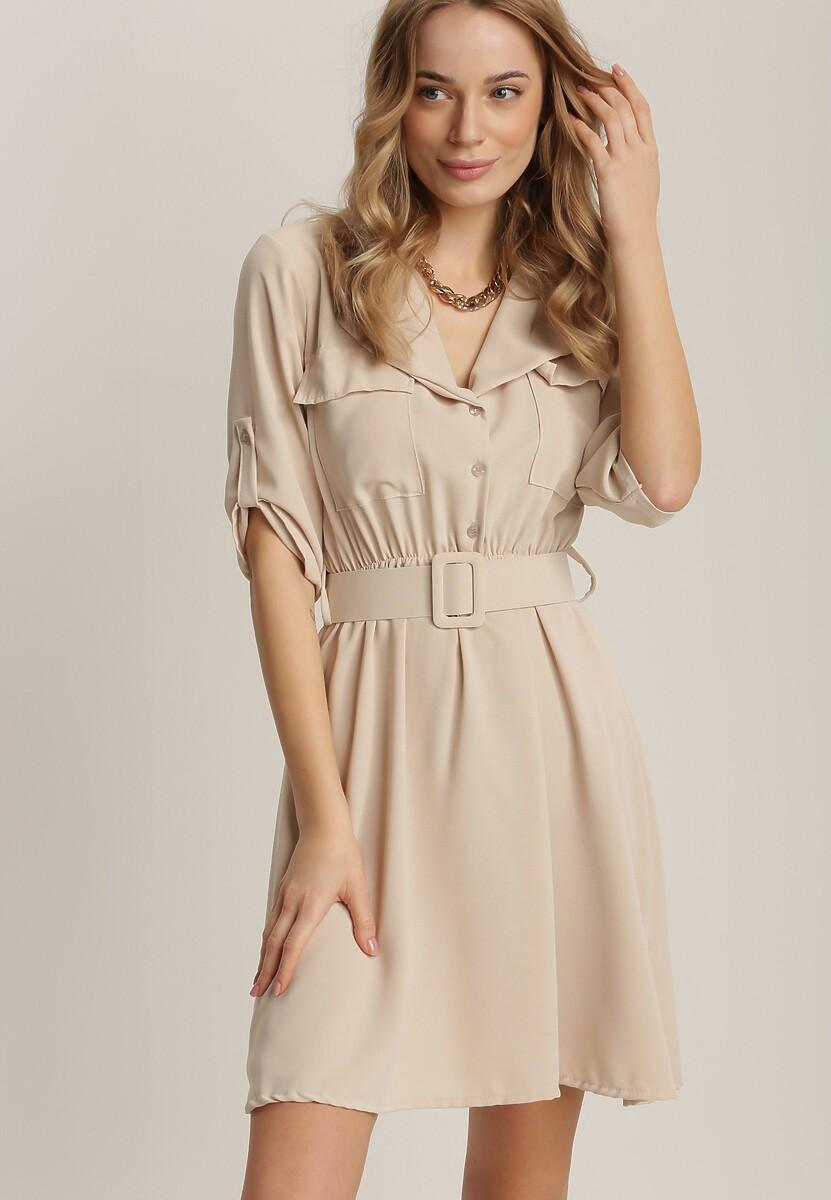 Jasnobeżowa Sukienka Theanose