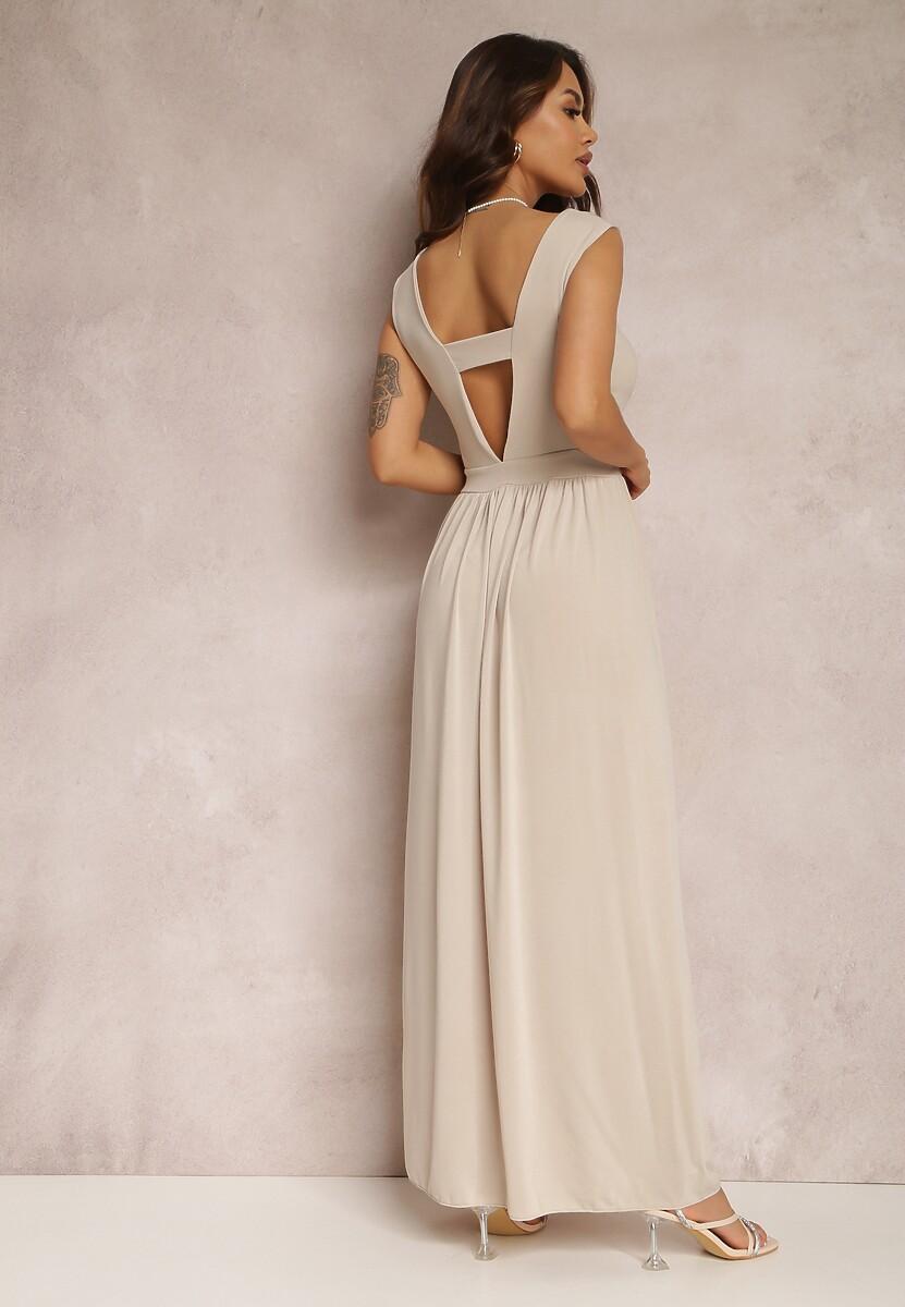 Beżowa Sukienka Crepheshi