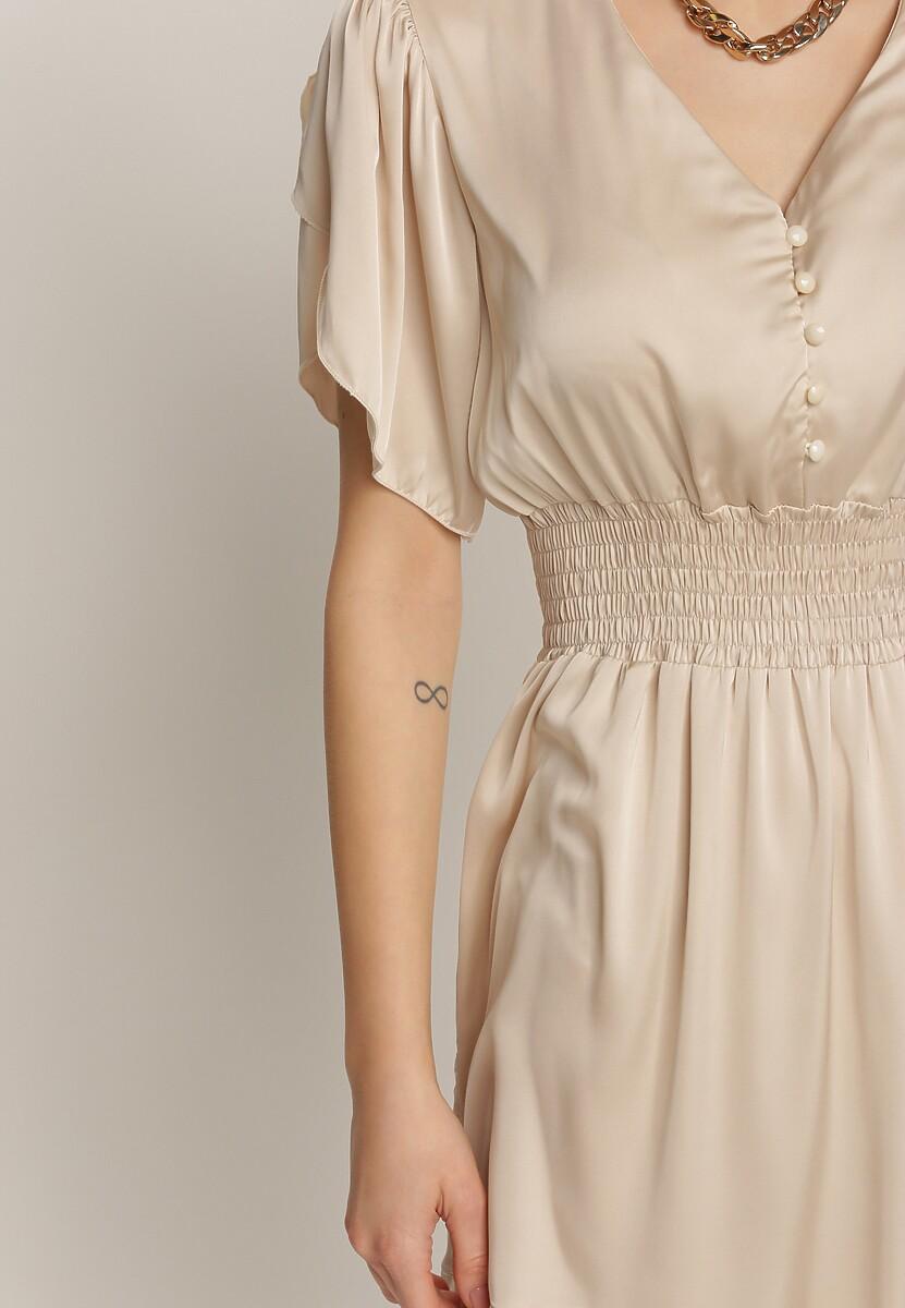 Beżowa Sukienka Anthenia