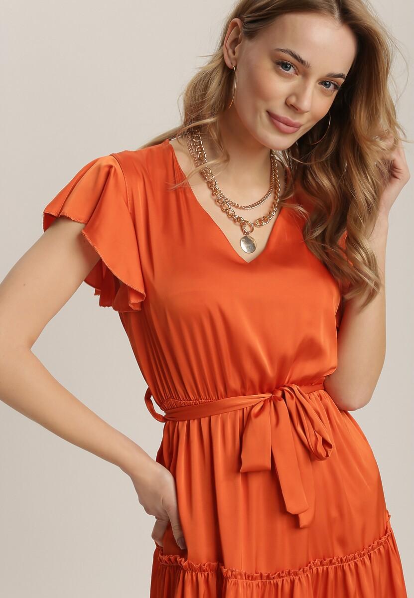 Pomarańczowa Sukienka Rhelixia