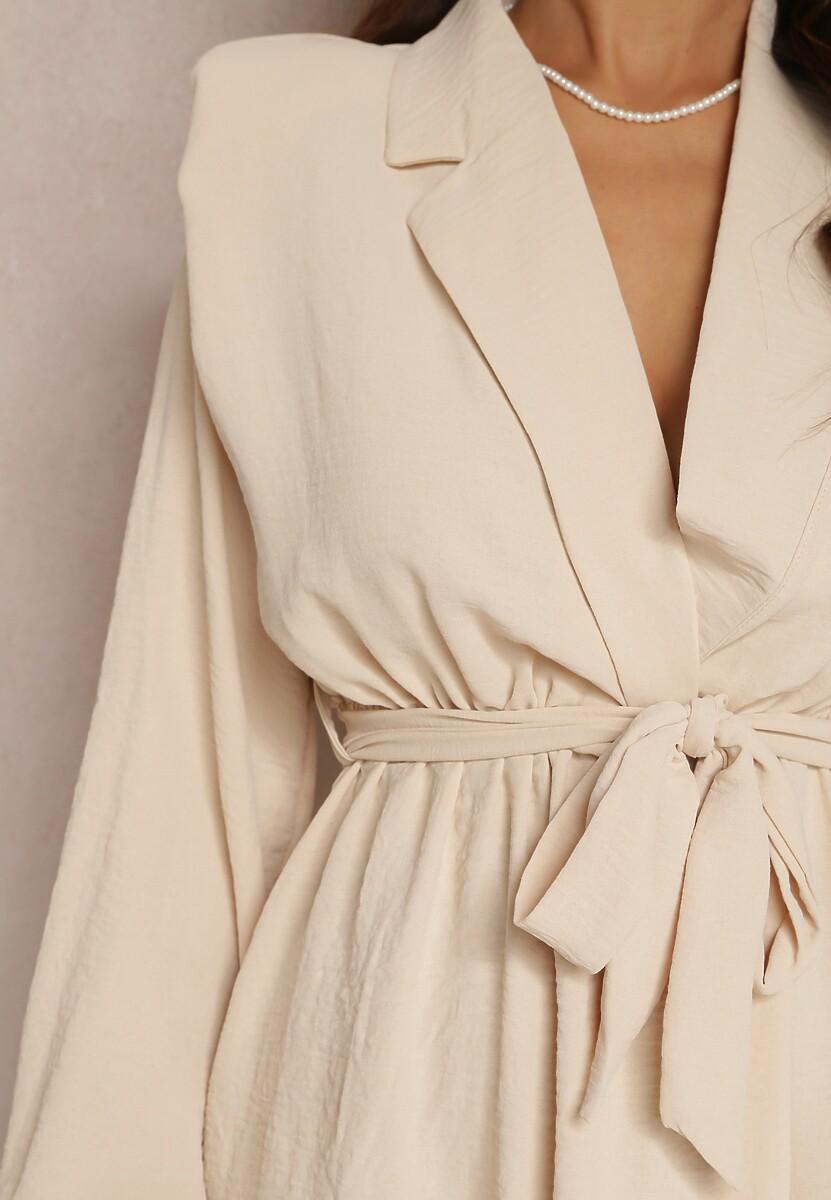 Jasnobeżowa Sukienka Bwynvielle